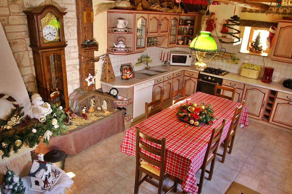 ambiance Noël à la  cuisine